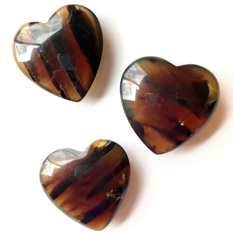 Amber Hearts Longevity Crystalline Light